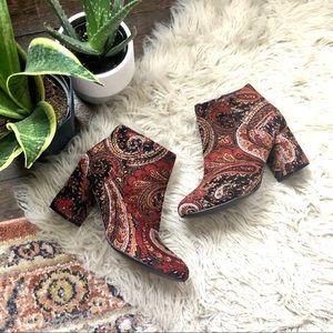Diba Tapestry Block Heel Booties